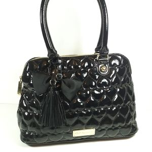 💋 Betsey Johnson Satchel Purse Black Handbag